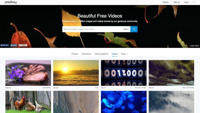 banco de vídeos pixabay