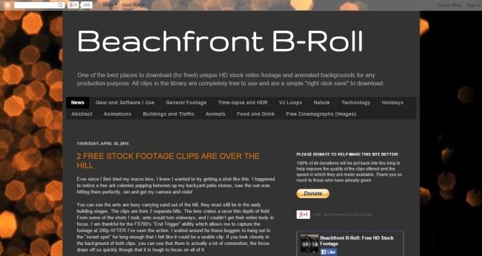 banco de vídeo Beach Front B-roll