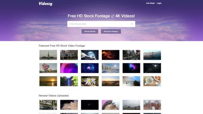 banco de vídeos videezy
