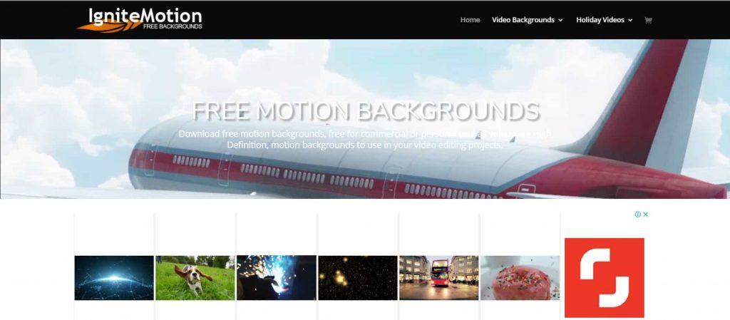 banco de vídeo ignite motion