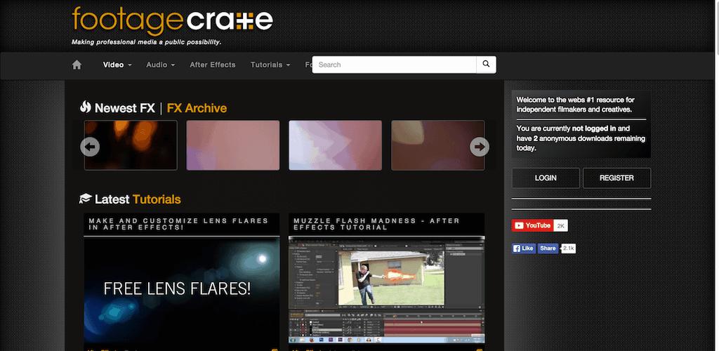 banco de vídeos footage create