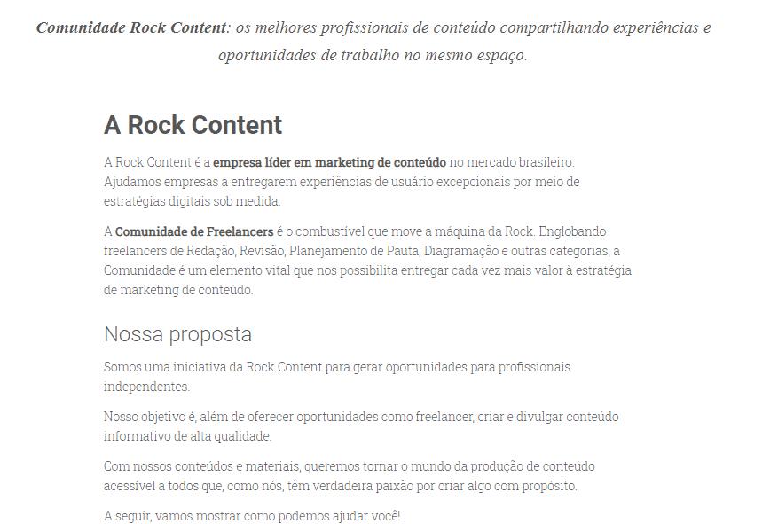 quem somos, do comunidade rock content
