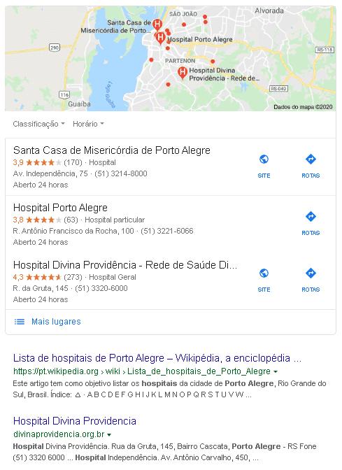 busca local por hospital em porto alegre
