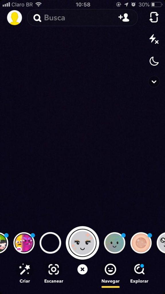 filtros do snapchat