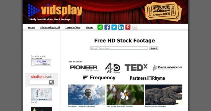 banco de vídeos vidsplay