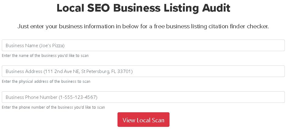 busca de seo local com dados de concorrentes