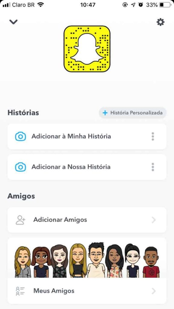 página do snap