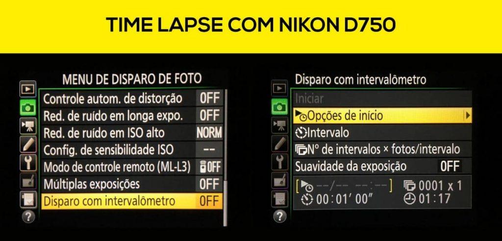 time lapse com nikon