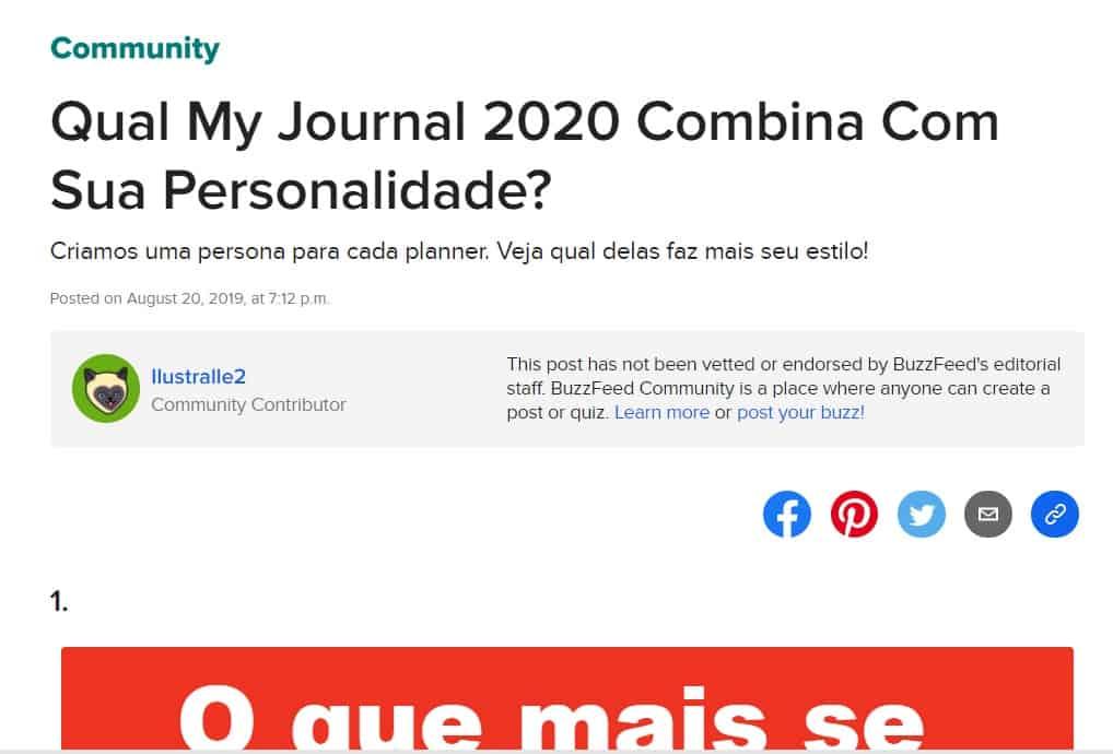Qual My Journal 2020 combina com a sua personalidade?