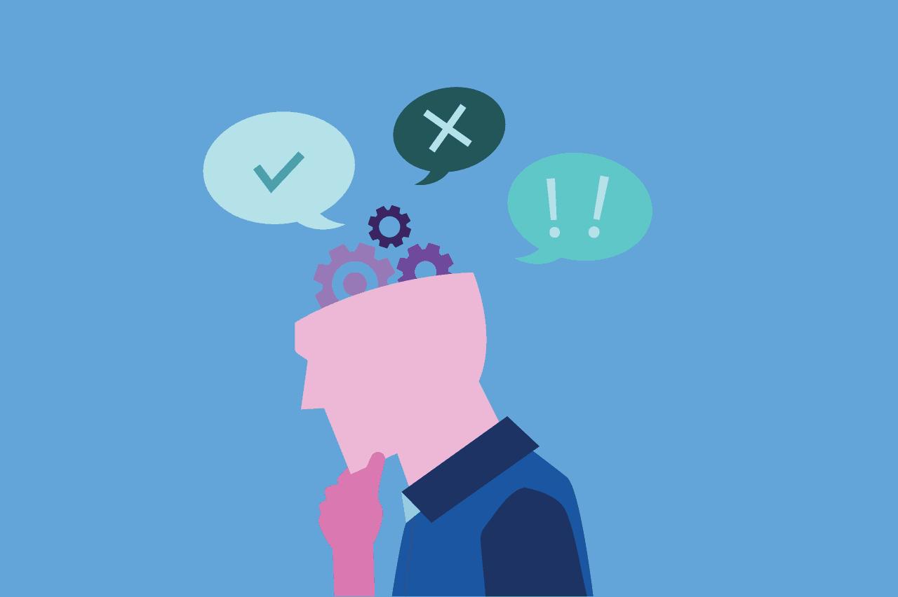 ilustração sobre autocrítica