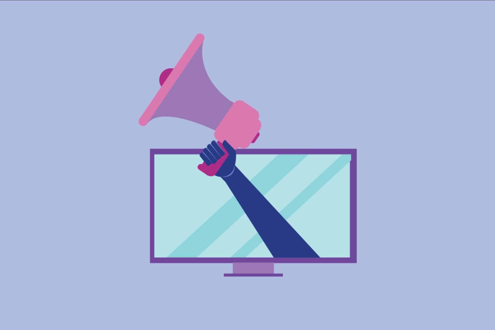 ilustração sobre como anunciar na TV