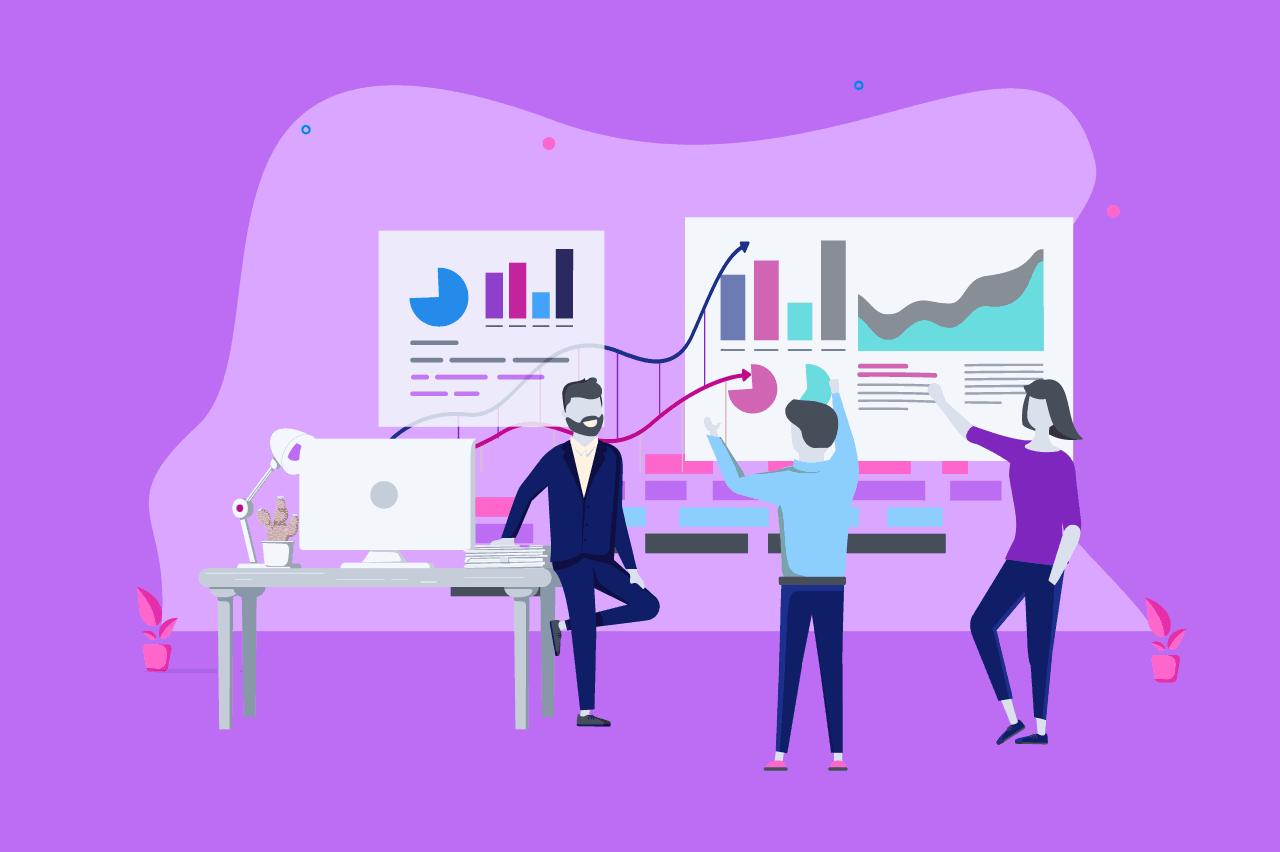ilustração sobre data driven business
