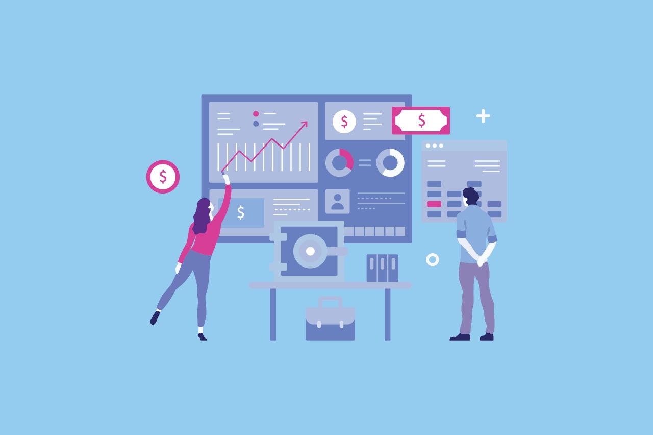 ilustração sobre gestão enxuta