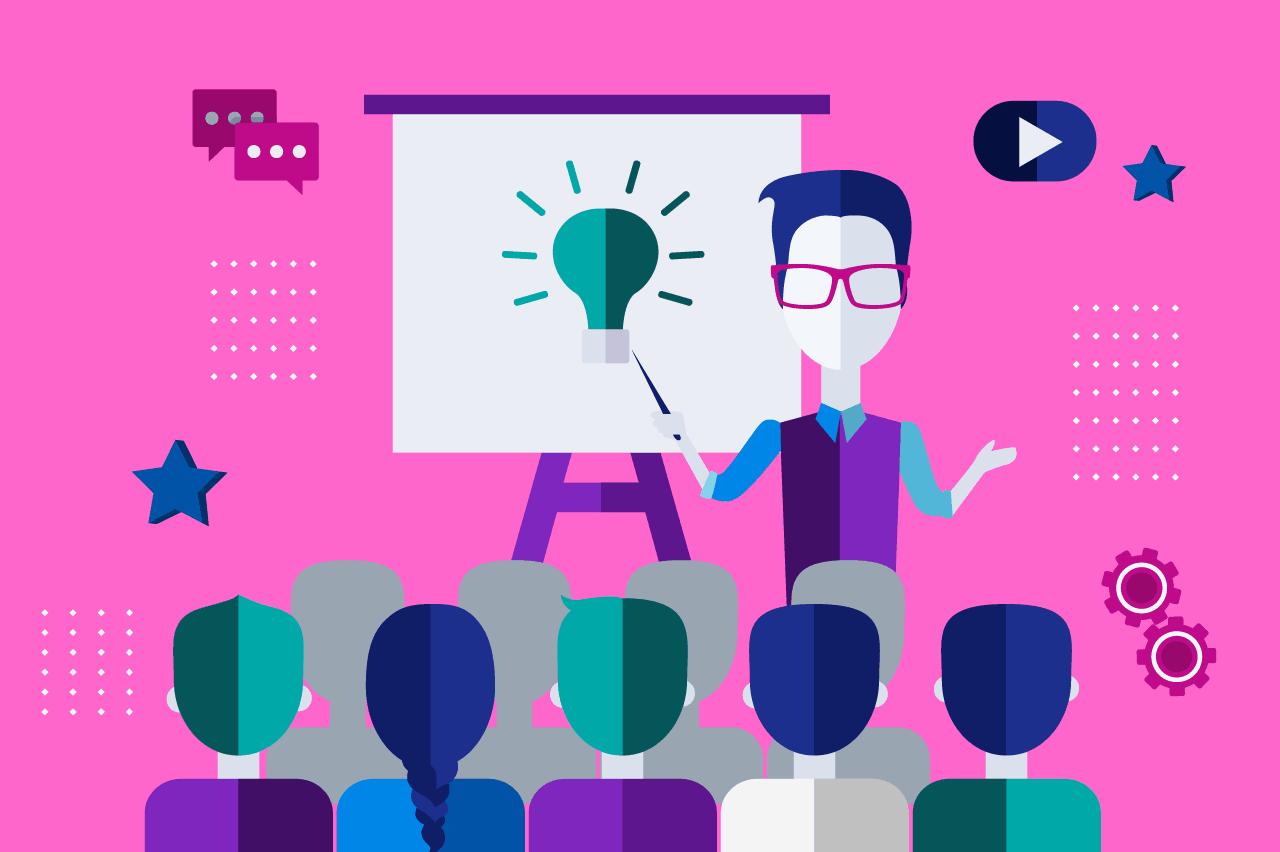ilustração sobre gestão de equipes criativas
