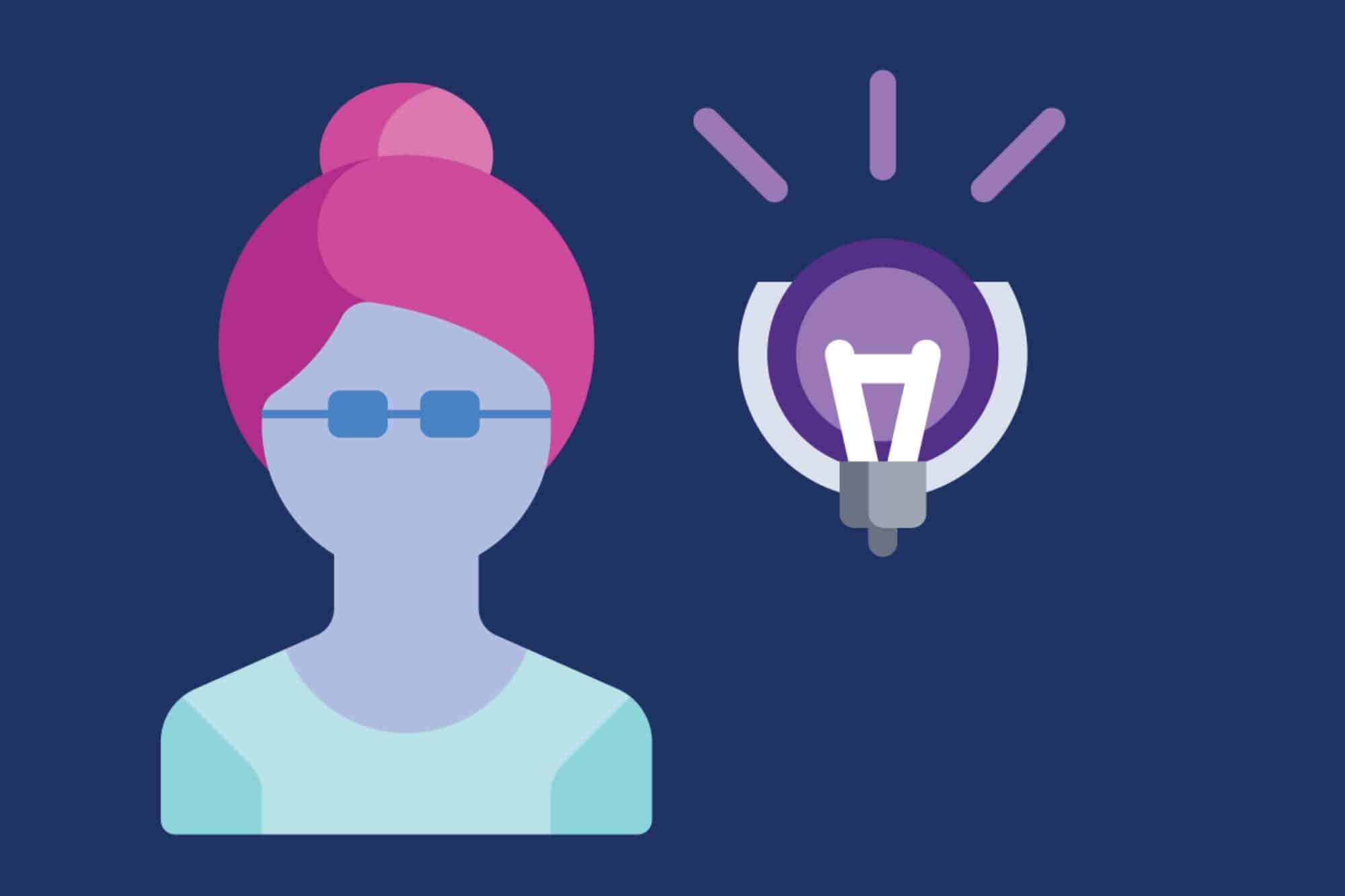 ilustração sobre ideias inovadoras