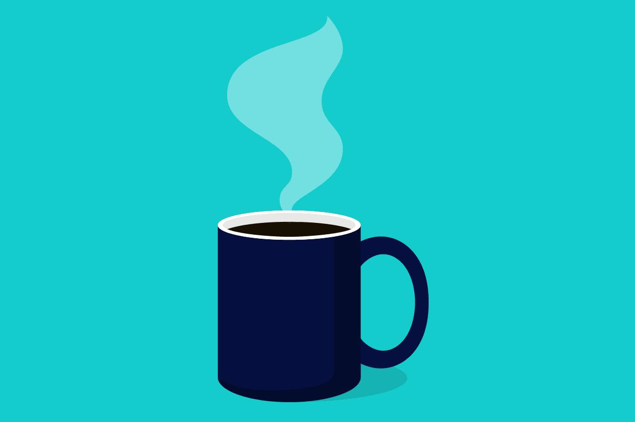 xícara de café como alusão às técnicas para aumentar a produtividade