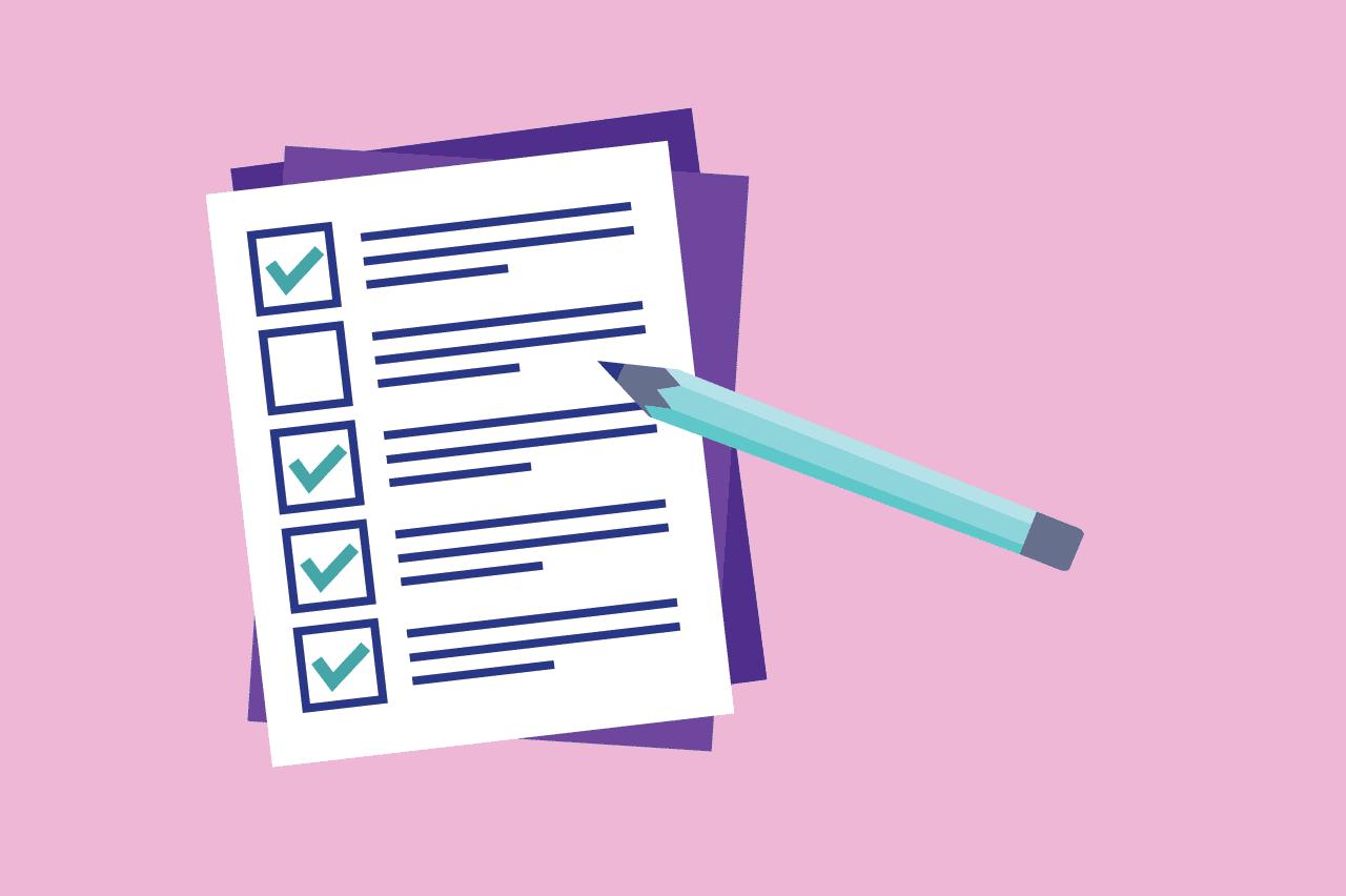 ilustração sobre tipos de listas