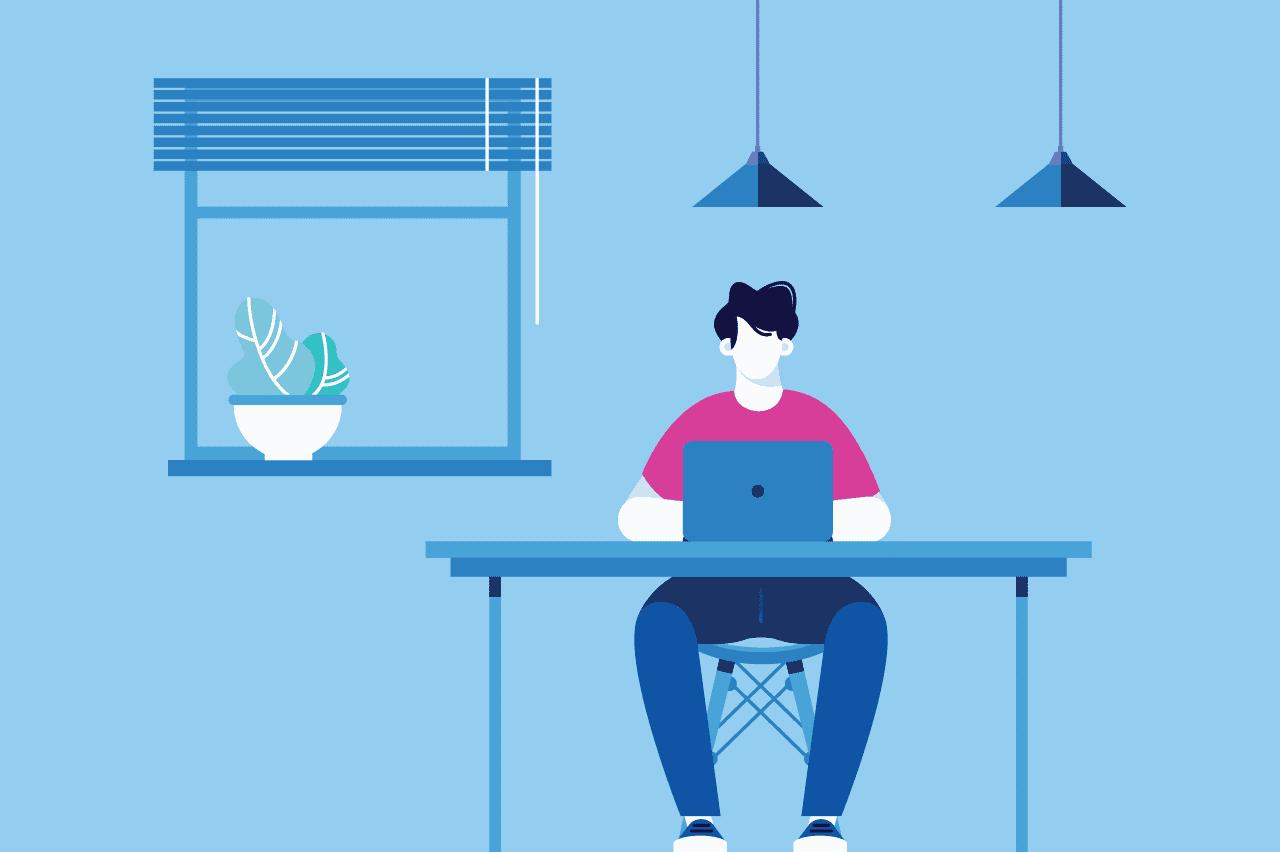 ilustração sobre produtividade no home office