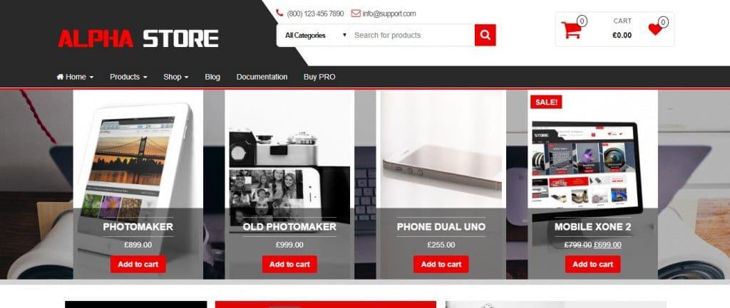 template  loja virtual