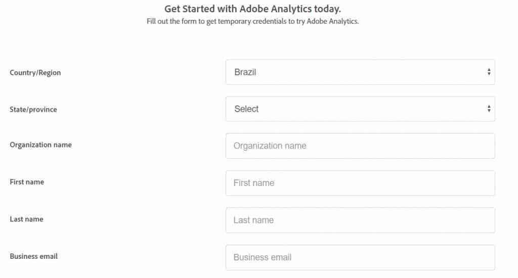 Login no Adobe Analytics