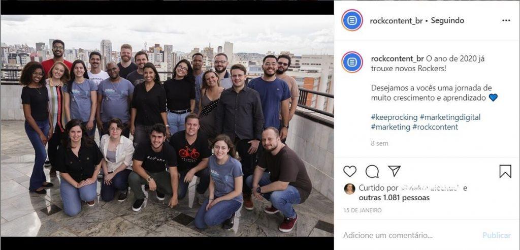 Bastidores no Instagram