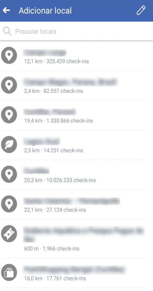 Como fazer check-in no Facebook.