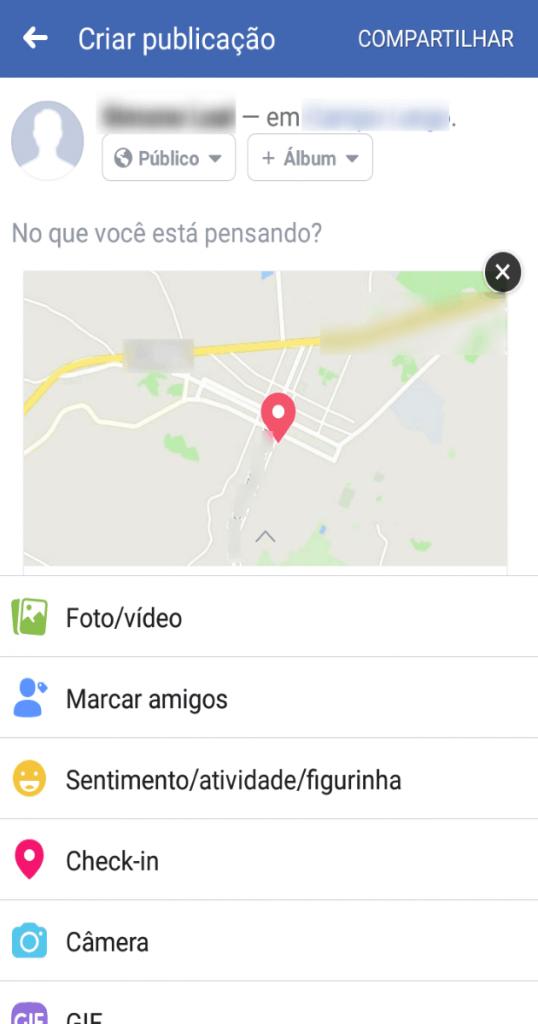 Check-in no Facebook passo a passo.