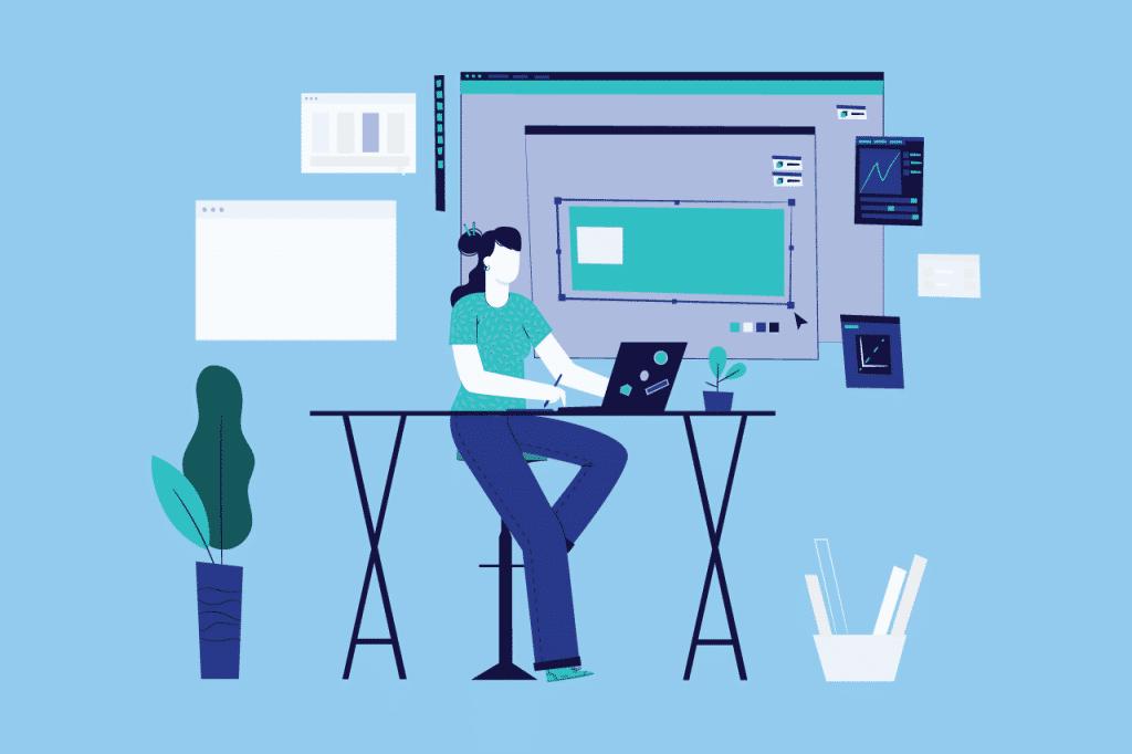 ilustração sobre controle de jornada no home office