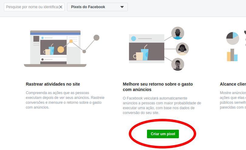 Criar um Pixel no Facebook