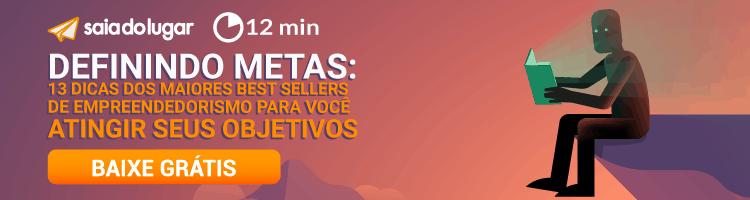 Banner de download para eBook gratuito de definição de metas.