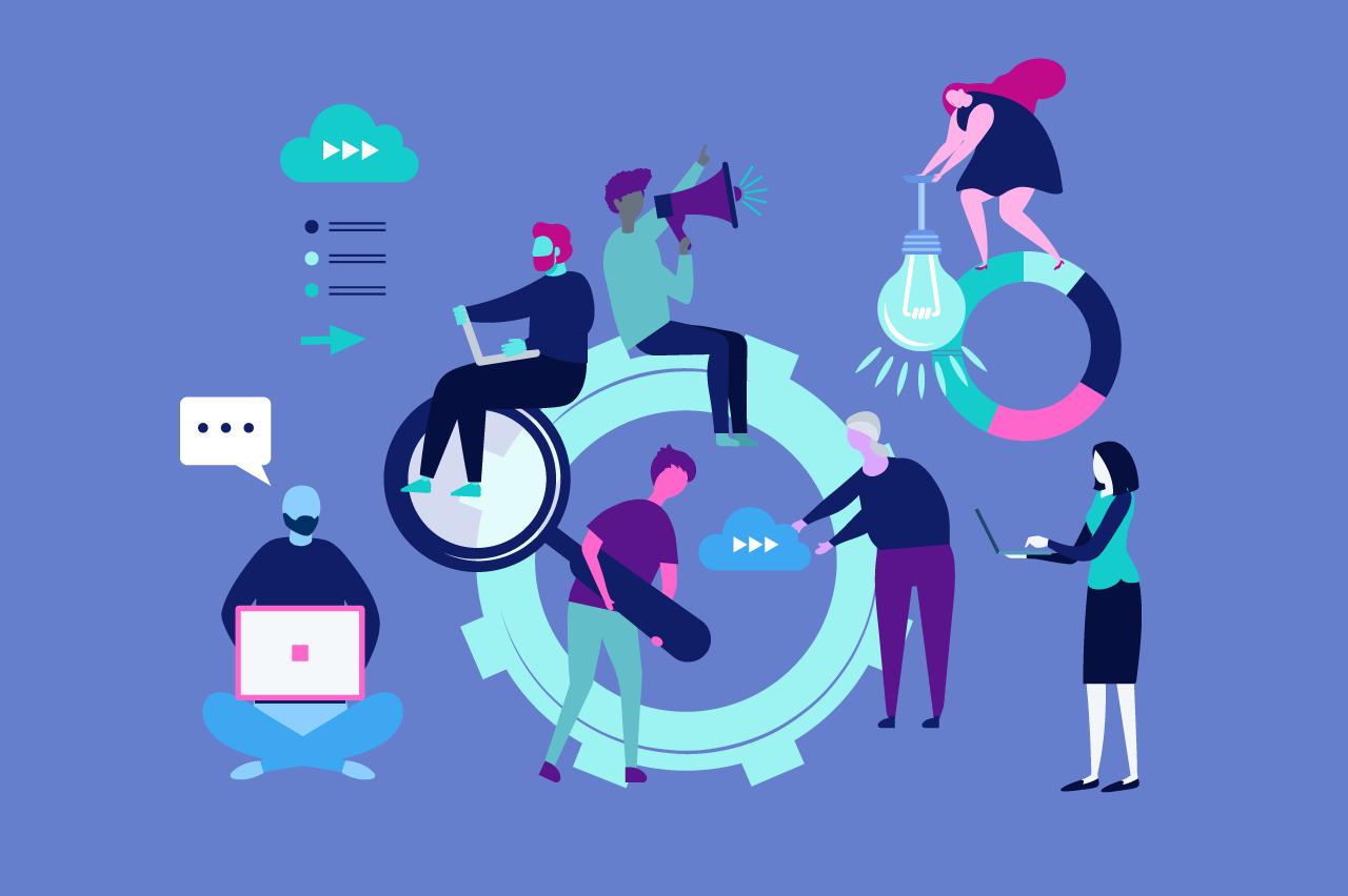 ilustração sobre diversidade nas agências