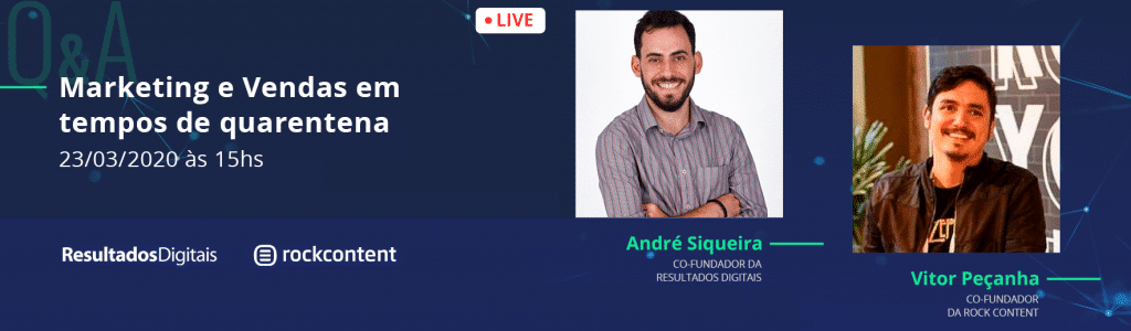 Webinar Marketing e Vendas em tempos de quarentena