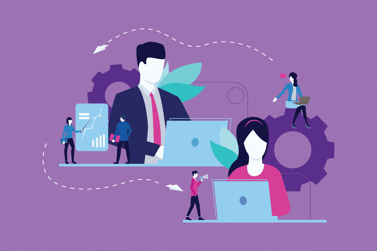 ilustração sobre gestão à vista