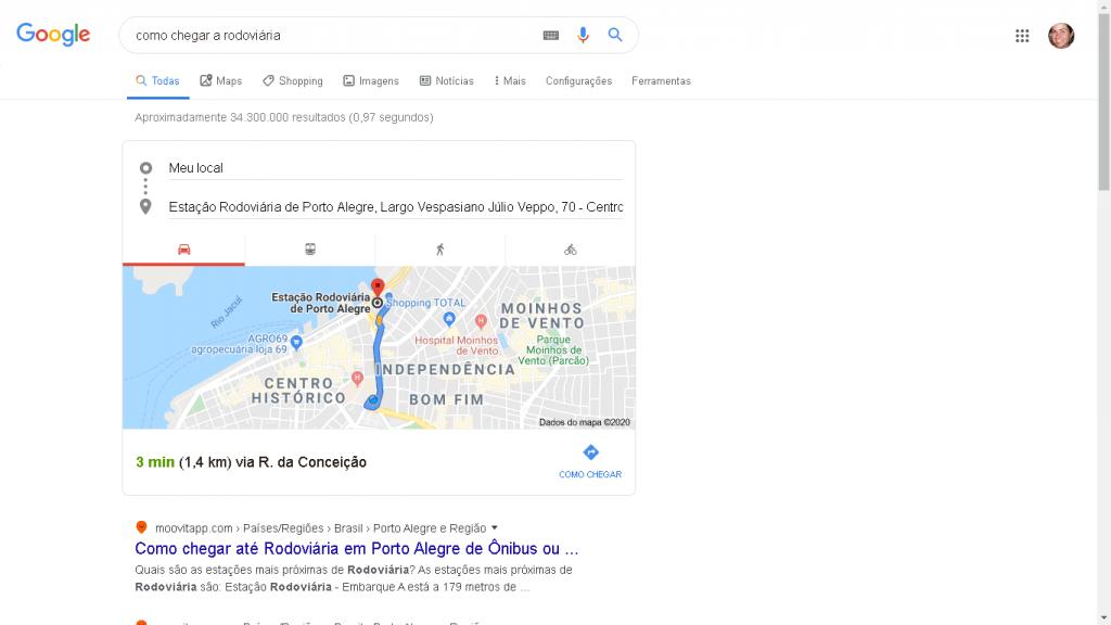 Knowledge Graph com mapa do google maps