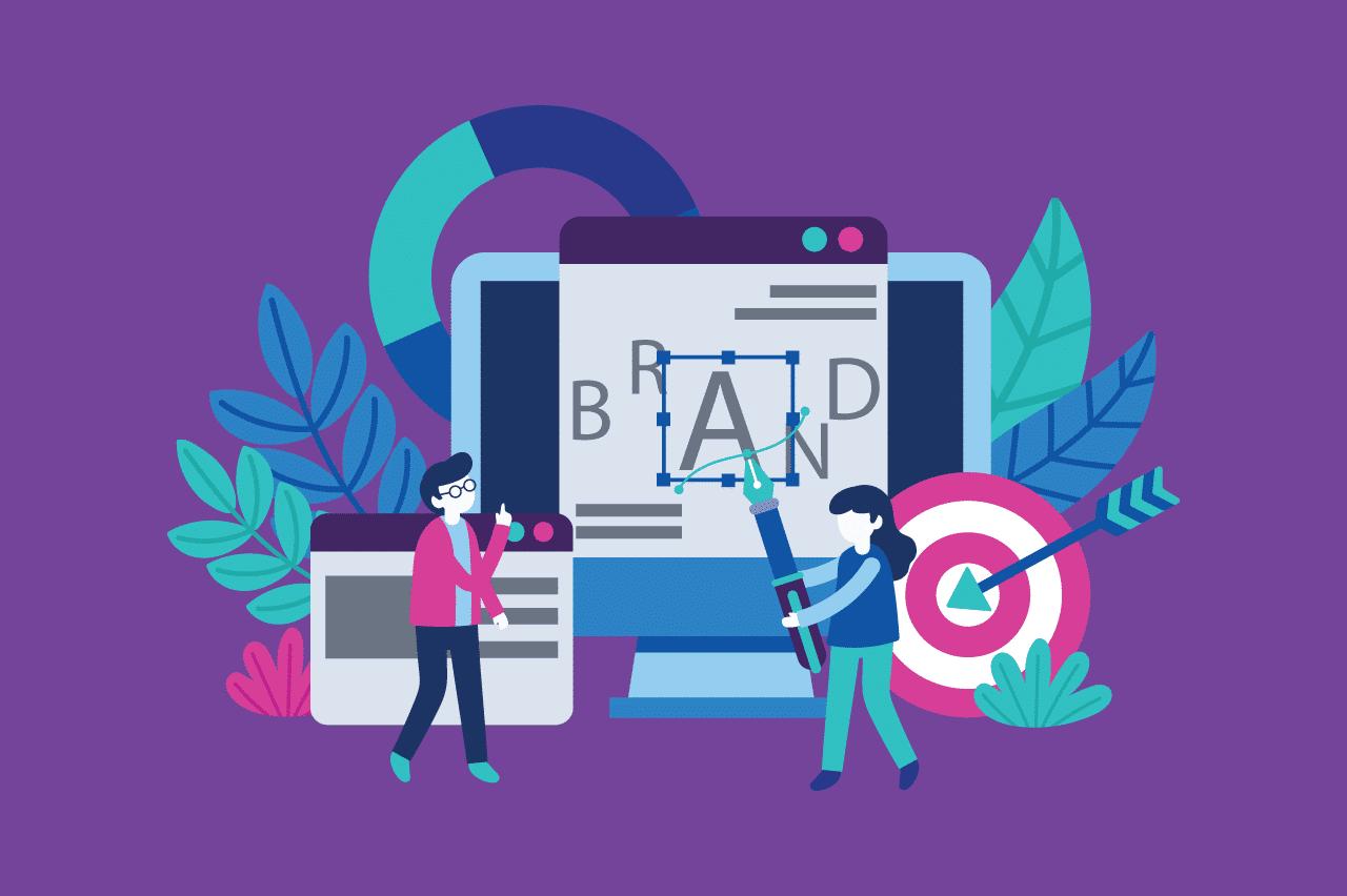ilustração sobre identidade visual para a agência