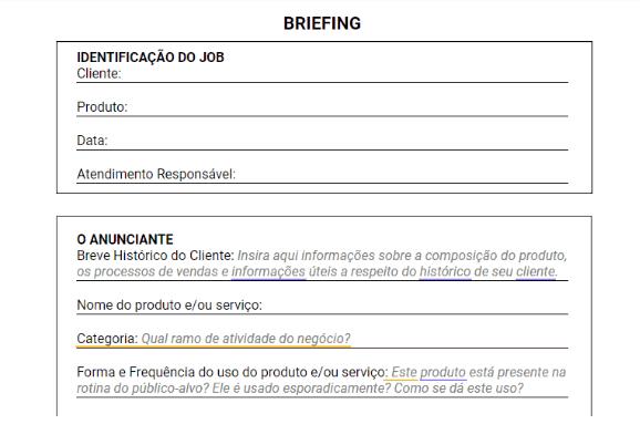 introdução de um birefing
