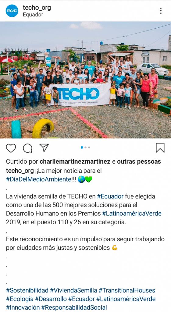 ONG Teto ganha premiação Green Awards 2019