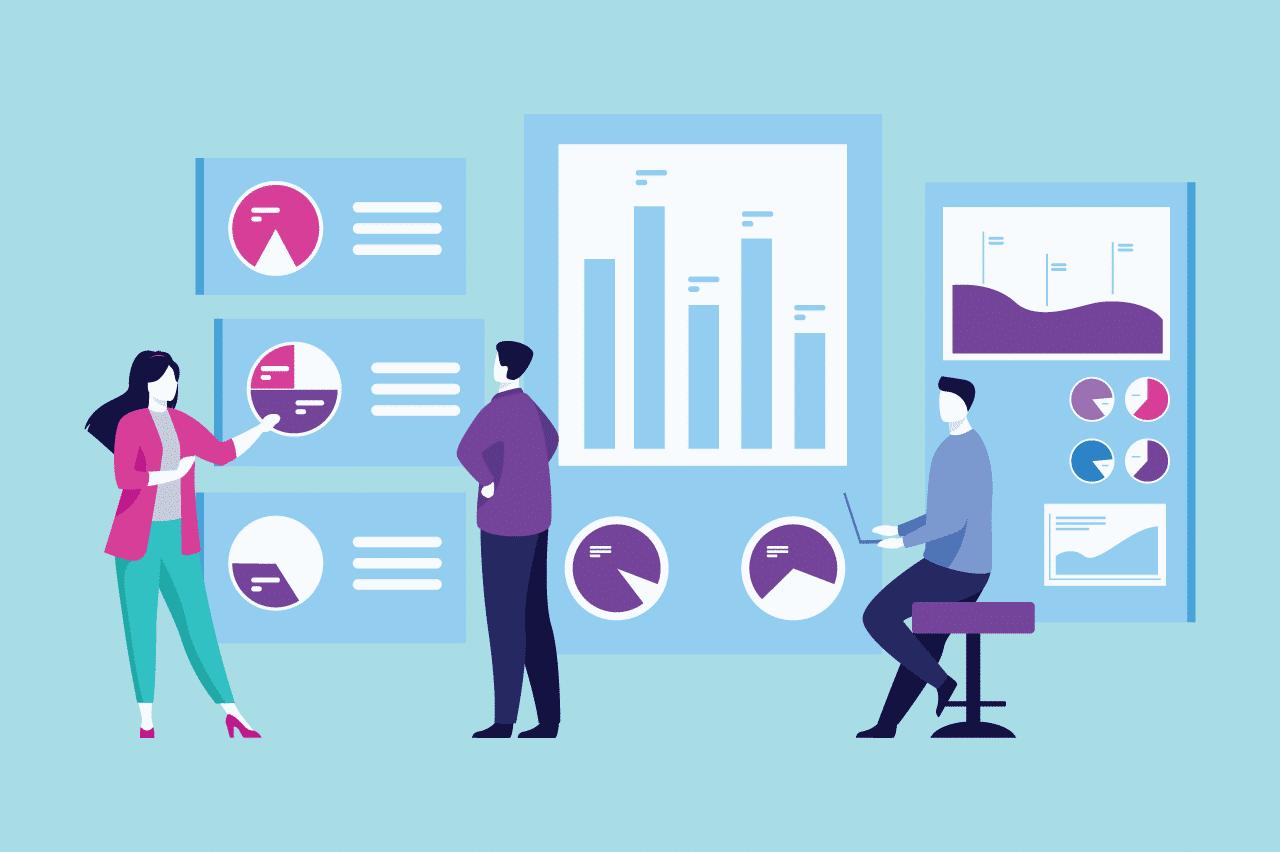 ilustração sobre métricas de experiência do cliente