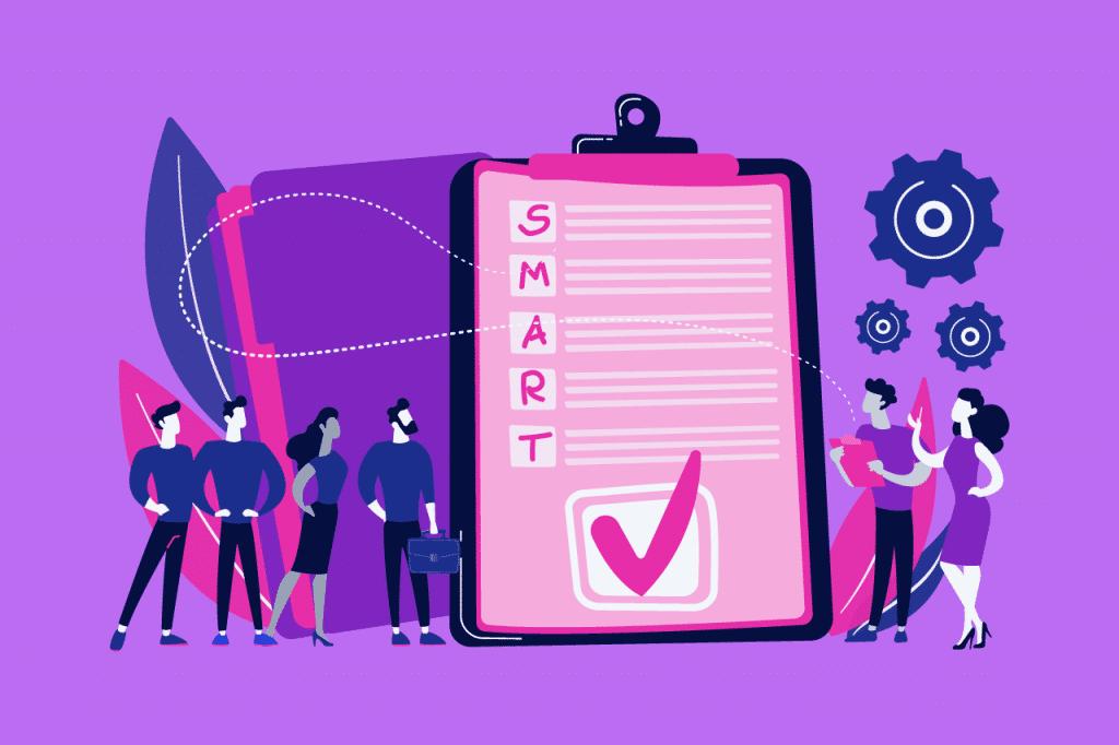 ilustração sobre objetivos SMART para agências