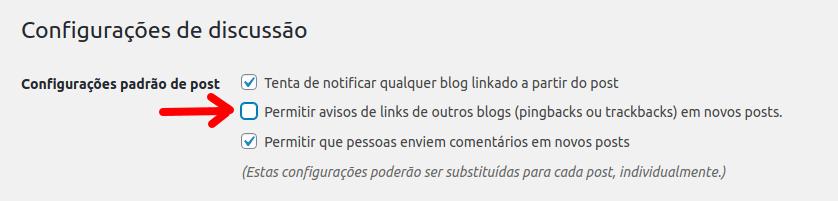 Configurações de discussão do WordPress