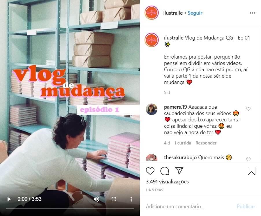Mostre a sua rotina no Instagram