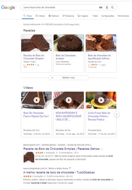 resultado da busca para bolo de chocolate