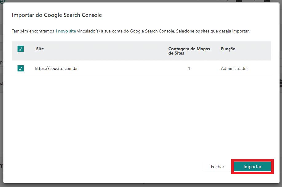 Ativar permissões para o Bing Webmaster Tools