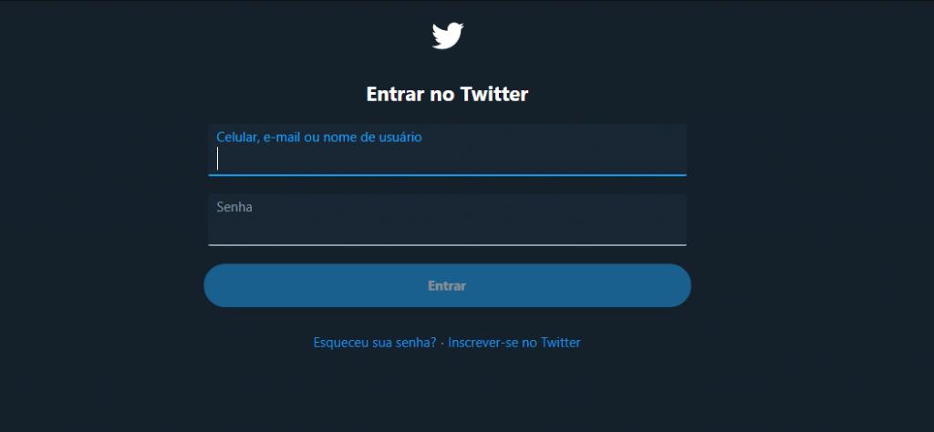 Login no Twitter