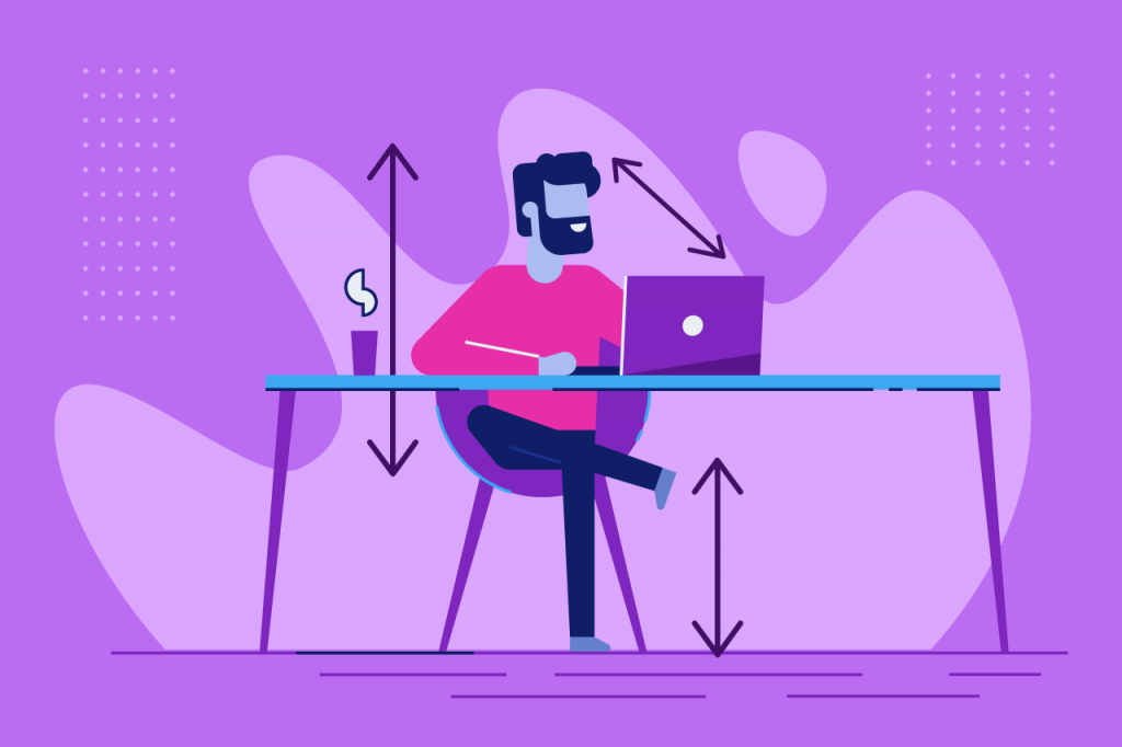 ilustração sobre ergonomia no trabalho