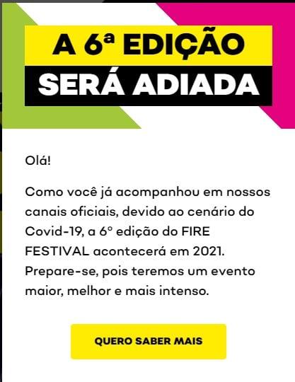 Fire Festival adiado em 2020