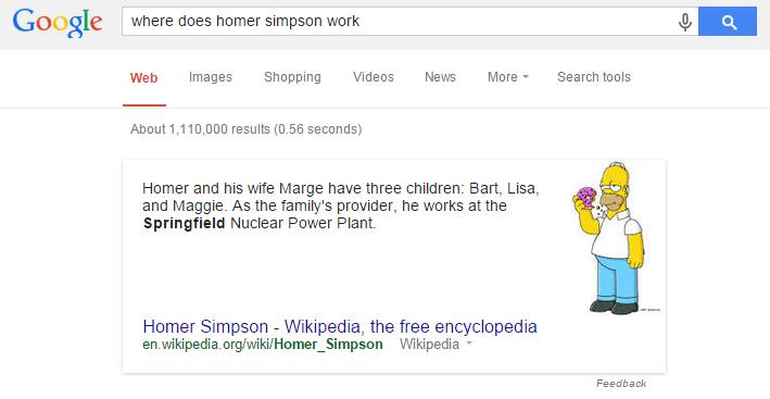 Exemplo de busca semântica no Google