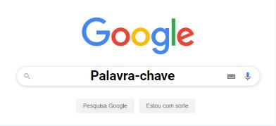 Pesquisa de palavras-chave no Google