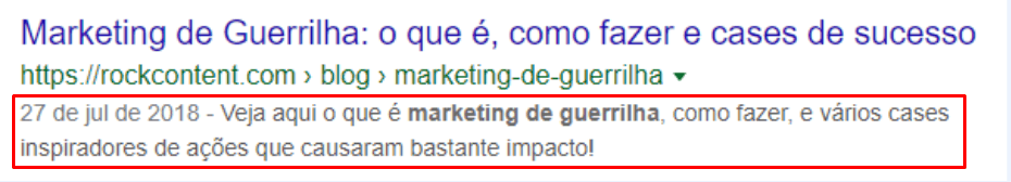 Exemplo de meta description