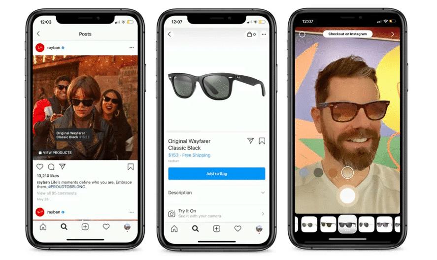 Loja no Instagram e uso de filtros de realidade aumentada